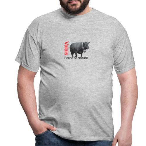 Naturgewalt - Kuh von Hérens Wallis - Männer T-Shirt