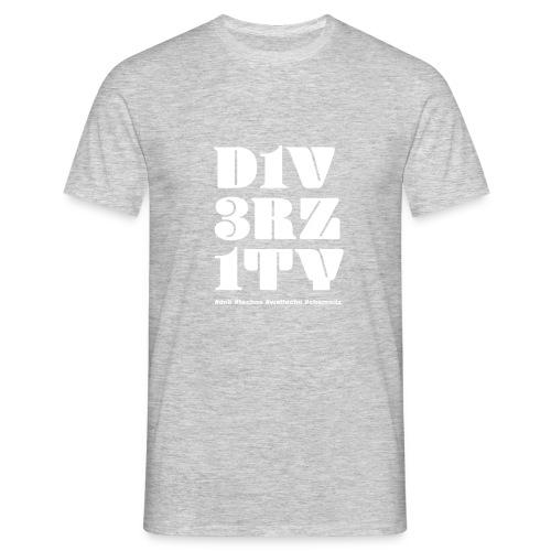 DIVERZITY Schriftzug weiss auf transparent 1 - Männer T-Shirt
