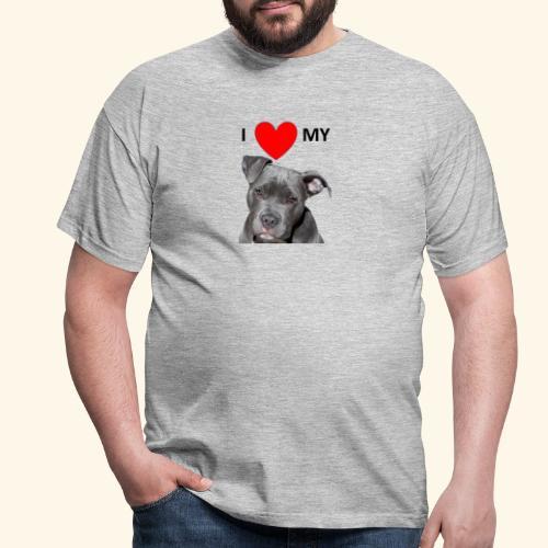 I love my Pitbull Hund Hunde Herrchen Frauchen - Männer T-Shirt