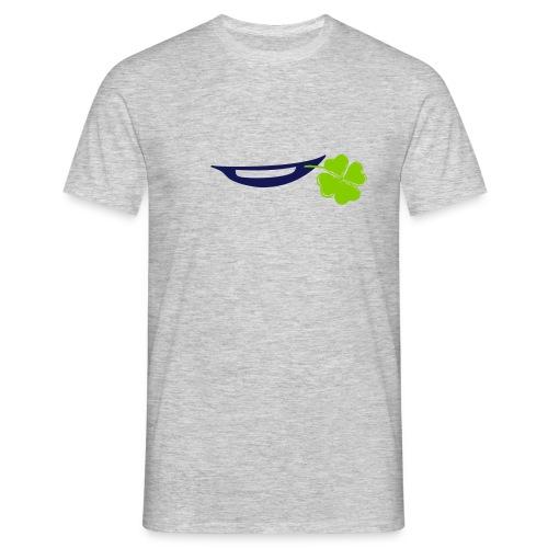 Lächeln mit Kleeblatt - Männer T-Shirt
