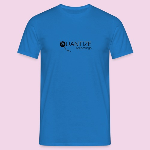Quantize Black Logo - Men's T-Shirt