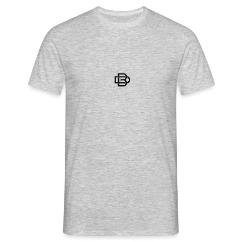 Black Monogram Logo - Men's T-Shirt