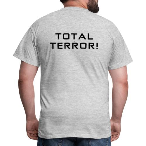 Black Negant logo + TOTAL TERROR! - Herre-T-shirt