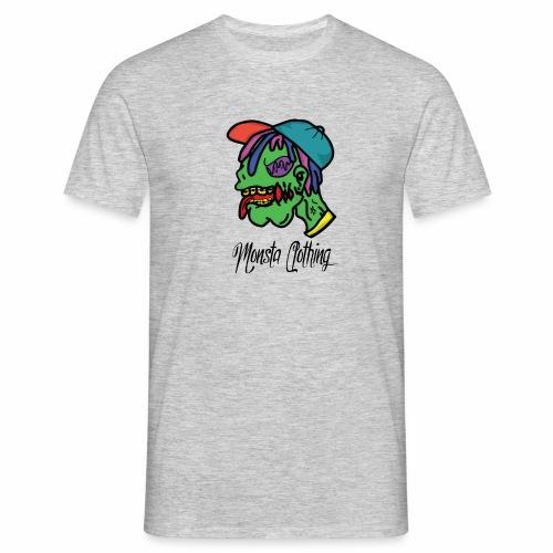 Monsta T-Shirt With Text - Men's T-Shirt