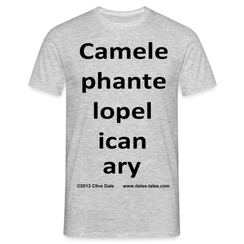camelepha- 5lines transpa - Men's T-Shirt