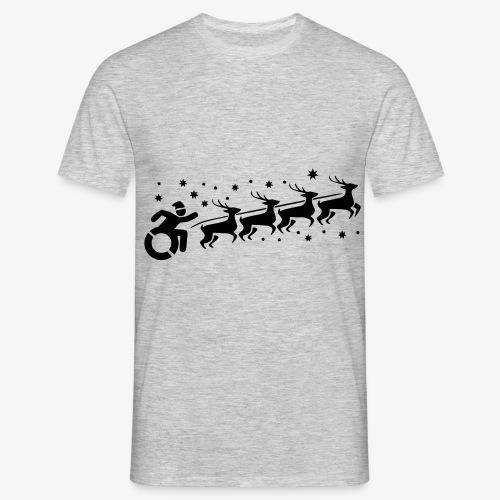 Santa WheelChair Mafia especially for Christmas - Mannen T-shirt