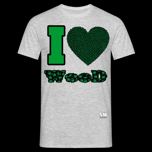 I Love weed - T-shirt Homme