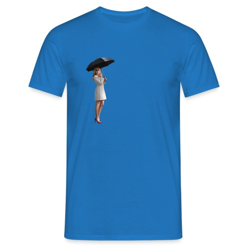 Woman with Umbrella - Männer T-Shirt