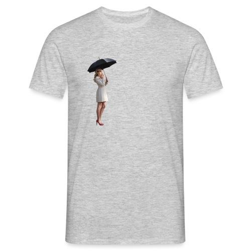 Woman with Umbrella - Männer T-Shirt