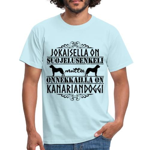 Kanariandoggi Enkeli II - Miesten t-paita