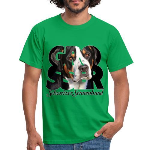 Grosser Schweizer Sennenhund Dark - Miesten t-paita