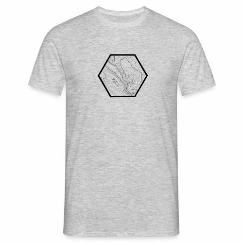 geografic hexagon black - Männer T-Shirt