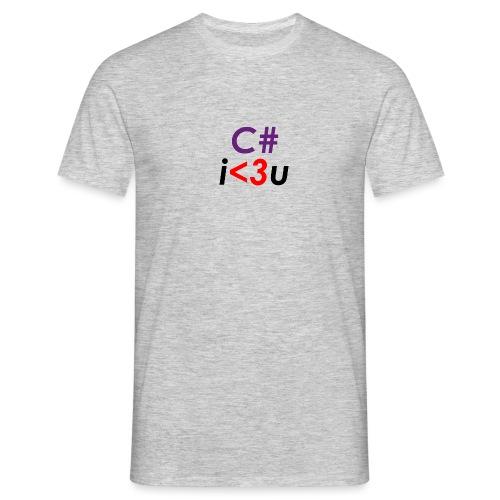 C# is love - Maglietta da uomo