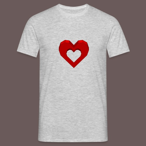 Heart Illusion - Herre-T-shirt