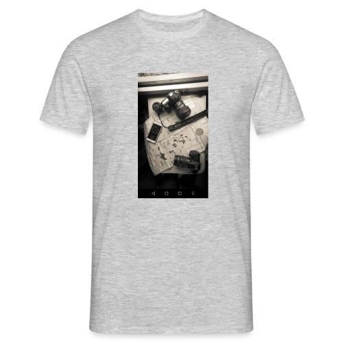 Buso con capucha negro - Camiseta hombre