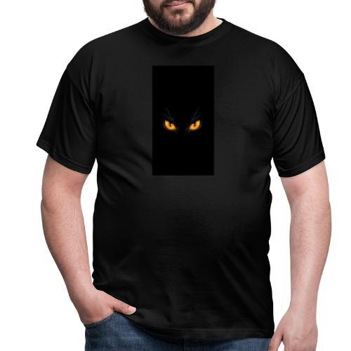 Black cat eye - Männer T-Shirt