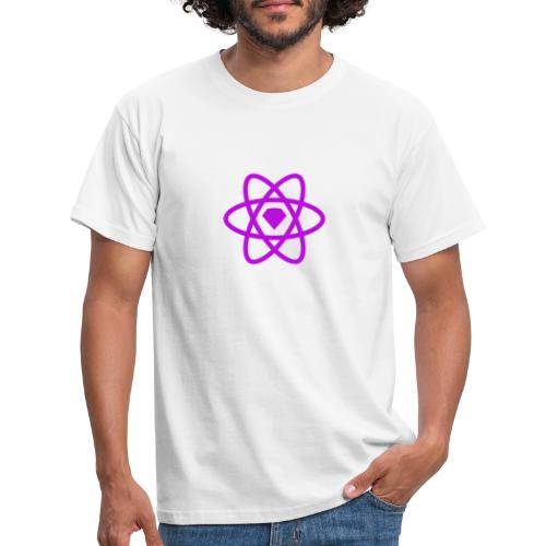 Sketch2React Purple Logo - Men's T-Shirt