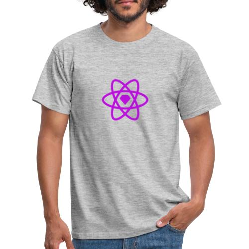 sketch2react logo purple - T-shirt herr