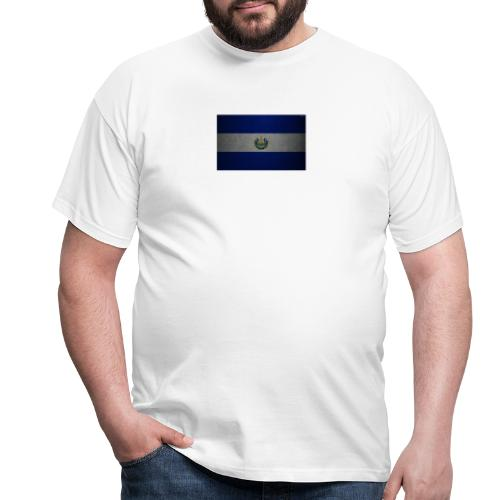 thumb2 flag of el salvador 4k leather texture nort - Camiseta hombre