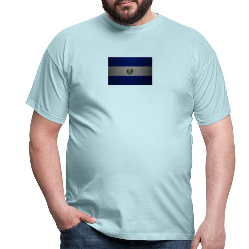 thumb2 flag of el salvador 4k leather texture nort - Camiseta hombre
