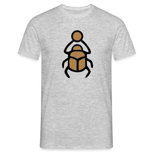 Skarabäus Ägyptisches Schutz Symbol Amulett - Männer T-Shirt