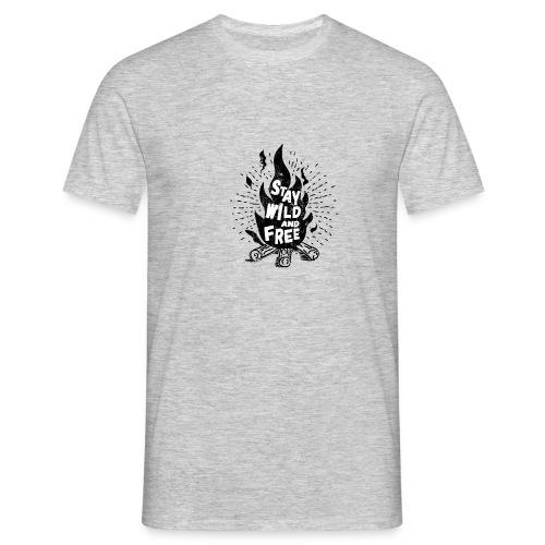 campfire_wildandfree - Männer T-Shirt