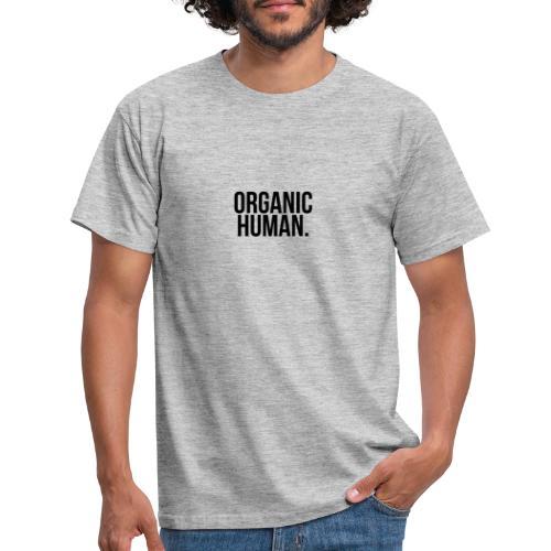 ORGANIC HUMAN BLACK WRITTING - T-shirt Homme