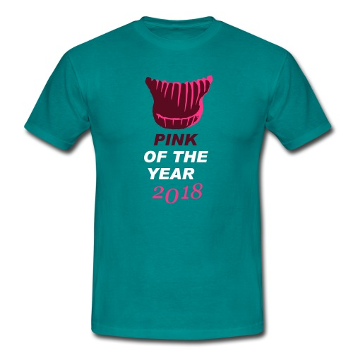 pink of the year 2018 pussyhat - Männer T-Shirt