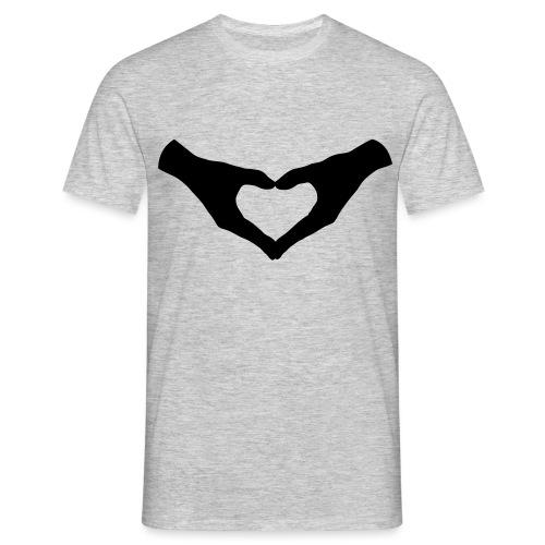 Herz Hände / Hand Heart 2 - Männer T-Shirt