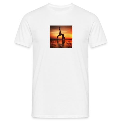 pet yoga - Mannen T-shirt
