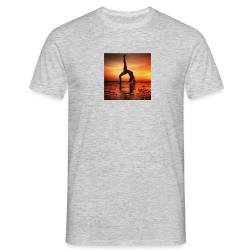 pet yoga - Mannen T-shirt