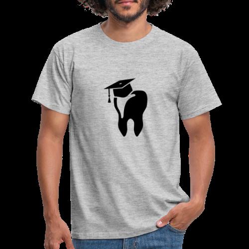 Zahn mit Doktorhut für Zahnarzt Zahnmedizin - Männer T-Shirt
