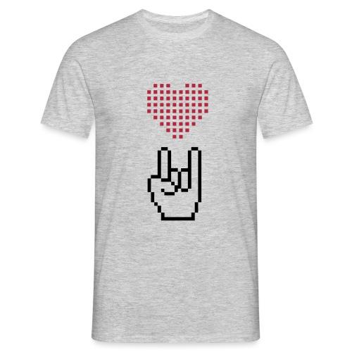 Pixel Love Rock - Männer T-Shirt