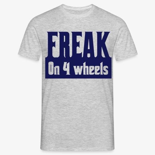 Gek op vier rolstoel wielen - Mannen T-shirt