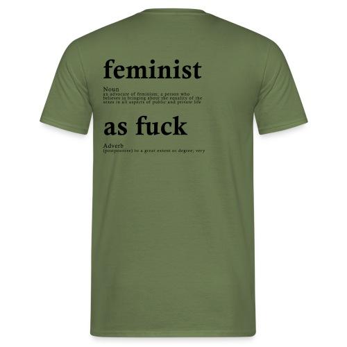 FEMINIST AF - Männer T-Shirt