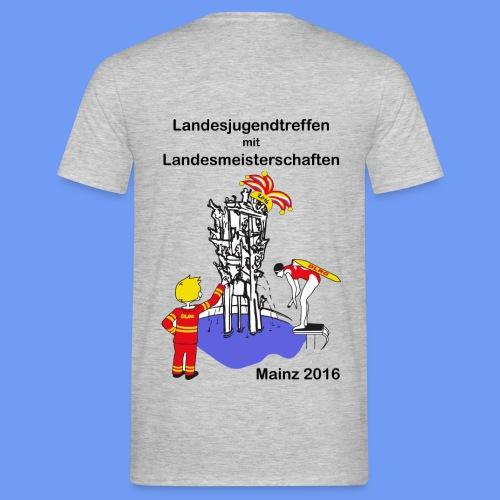 LM Logo vierfarbig mit Schrift schwarz - Männer T-Shirt