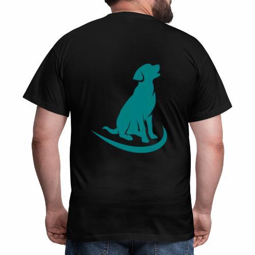 siluetta perro logo colores - Camiseta hombre