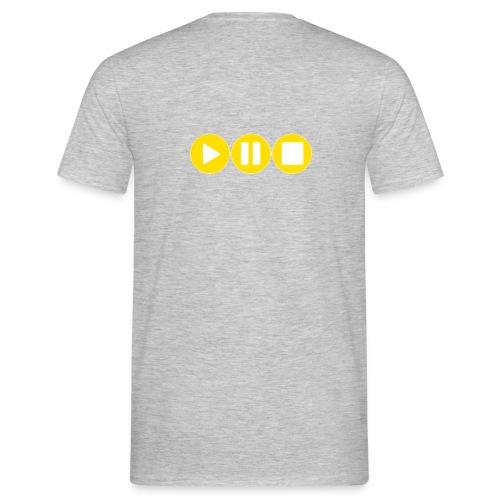 Play Pause Stop Gelb - Männer T-Shirt