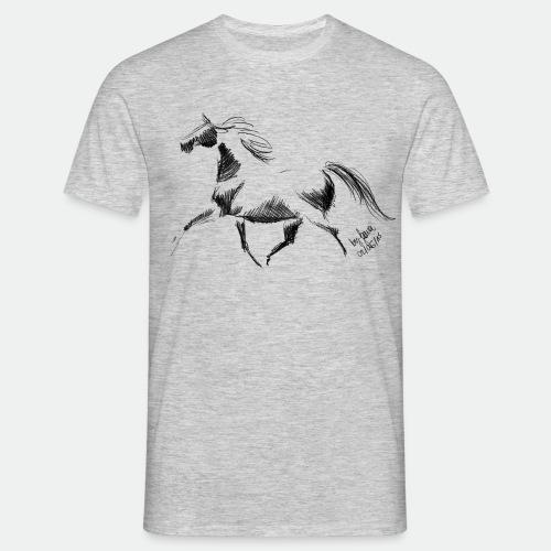 Pferd Trab Stute Geschenk Hannoveraner Skizze Art - Men's T-Shirt