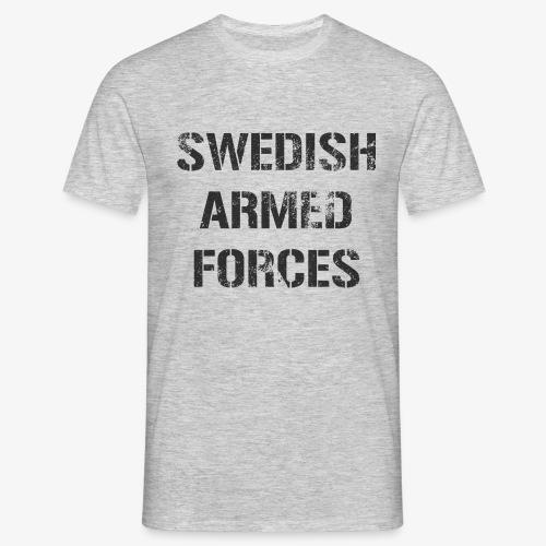 SWEDISH ARMED FORCES Rugged + SWE Flag - T-shirt herr