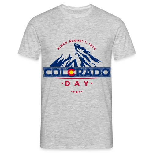 Colorado Day 2018 state flag mountain T shirt - T-shirt Homme