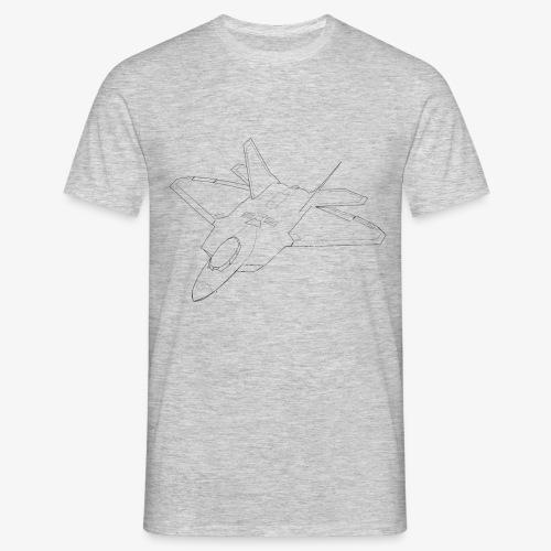 F 22 Raptor LineArt - Männer T-Shirt