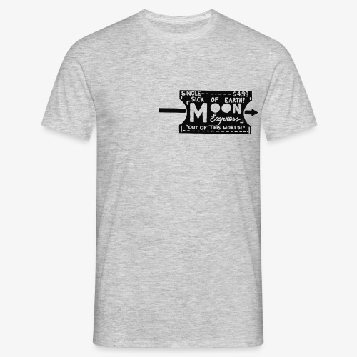 One Way Ticket To The Moon - T-shirt Homme