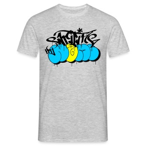 writing my name - graffiti bombing tag - Männer T-Shirt