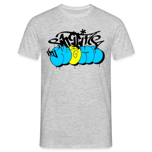 scrivere il mio nome - graffiti giorno di bombardamenti - Maglietta da uomo