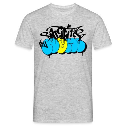 writing my name - graffiti bombing tag - Männer T-Shirt