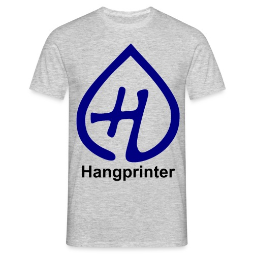 Hangprinter logo and text - T-shirt herr