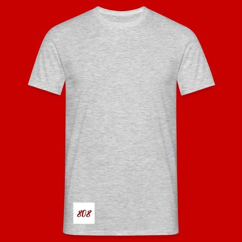 red on white 808 box logo - Men's T-Shirt