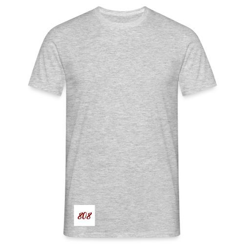 808 red on white box logo - Men's T-Shirt