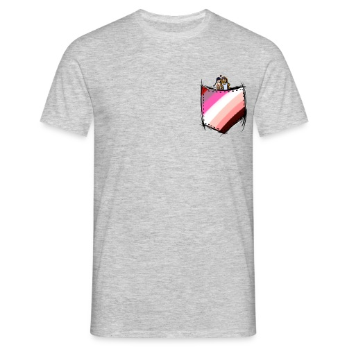 pocket lesbians flag - T-shirt Homme